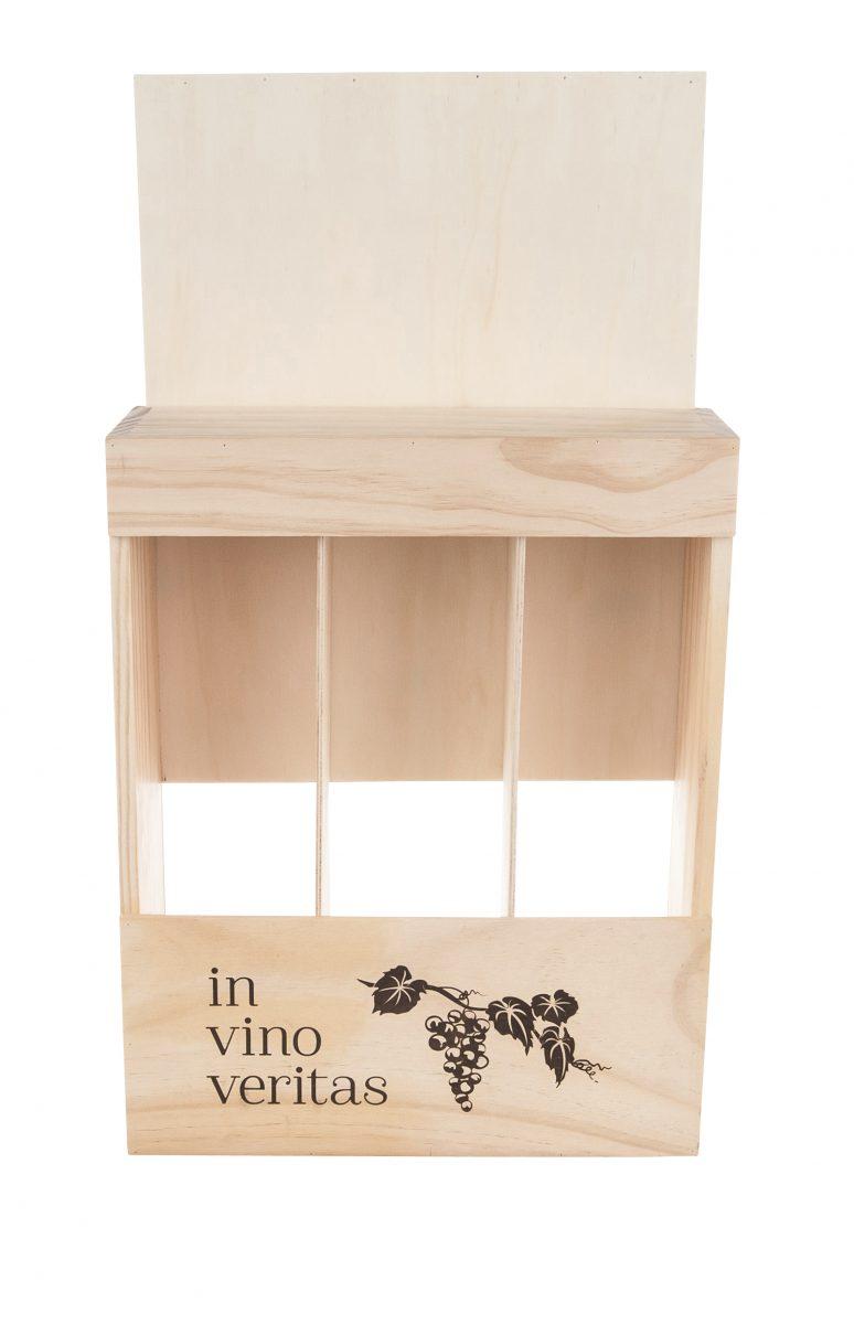 In Vino Veritas, Box for 3 Bottles of Wine